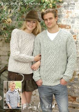 Sweaters in Hayfield Bonus Aran with Wool