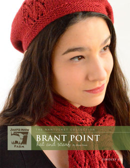 Brant Point Hat and Scarf in Juniper Moon Farm Findley DK