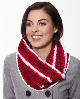 Holiday Stripes Cowl in Caron Simply Soft - Downloadable PDF