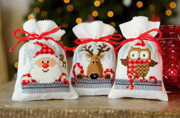 Vervaco Christmas Buddies - Pack of 3 Cross Stitch Kit - 8cm x 12cm
