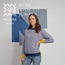 """"""" Mira Wide Fit Jumper """" -  Jumper Knitting Pattern For Women in MillaMia Naturally Soft Merino by MillaMia"""