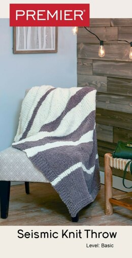 Parfait Seismic Knit Throw in Premier Yarns Parfait Big - Downloadable PDF