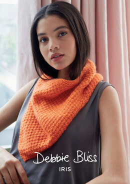 Zinnia Scarf in Debbie Bliss Iris - Downloadable PDF