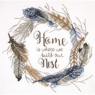 Janlynn Corporation Build our Nest Cross Stitch Kit - 12in x 12in