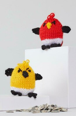 George & Hubert Knit Bird in Red Heart Amigurumi - LM6296 - Downloadable PDF