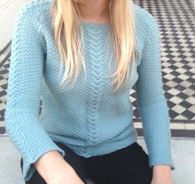 Double Moss Stitch Top