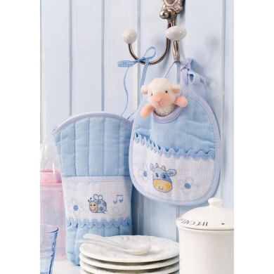 Made with Love - Baby Bib and Bottle Warmer in Anchor - Downloadable PDF