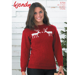 Reindeer Sweater in Wendy Mode Chunky - 5754