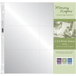 "We R Memory Keepers We R Ring Photo Sleeves 12""X12"" 10/Pkg - (6) 4""X6"" Pockets"