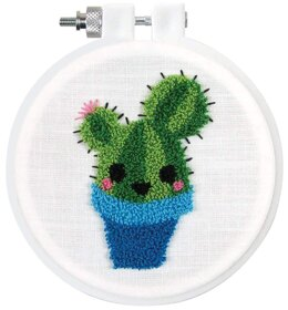 Design Works Cactus Punch Needle Kit - 9cm x 9cm