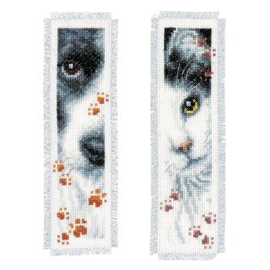 Vervaco Dog and Cat Cross Stitch Bookmarks Kit (Set of 2)
