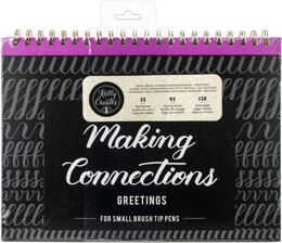 "American Crafts Kelly Creates Small Brush Workbook 11.6""X10"" 128/Pkg - Connections/Greetings"