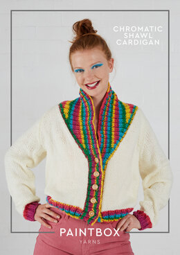 Chromatic Shawl Cardigan in Paintbox Yarns Chunky & Chunky Pots - Downloadable PDF