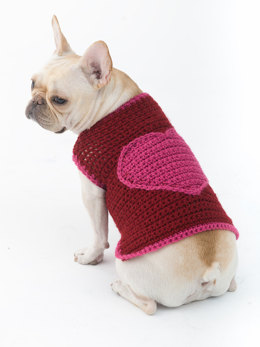 Romantic Dog Sweater in Lion Brand Vanna's Choice - L32354