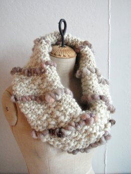 Ellie Cowl in Knit Collage Pixie Dust