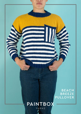 """Beach Breeze Pullover"" - Free Pullover Knitting Pattern For Women in Paintbox Yarns Wool Mix Aran-5"