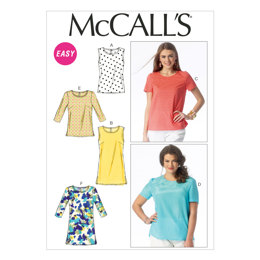 McCall's Misses'/Women's Tops and Tunics M6927 - Sewing Pattern