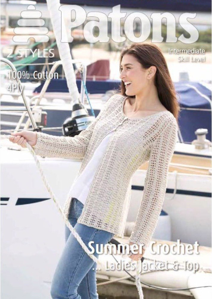 Ladies Crochet Top And Jacket In Patons 100 Cotton 4 Ply 4012