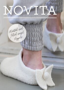 Knitted and Felted Angel Slippers in Novita Natura - Downloadable PDF