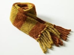 Child's Striped Scarf in Lion Brand Jiffy - 70047