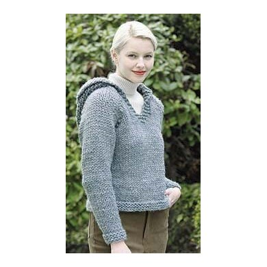 Country Classic Hooded Sweatshirt in Lion Brand Wool-Ease Thick & Quick - 30037