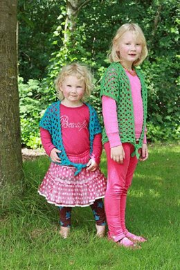 Lace-cardi for girls