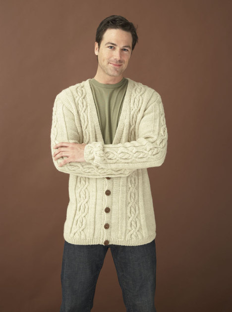Northshore Cardigan In Lion Brand Wool Ease 90191ad