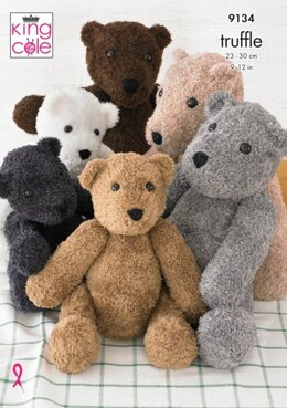 Small and Large Teddy in King Cole Truffle - 9134 - Leaflet
