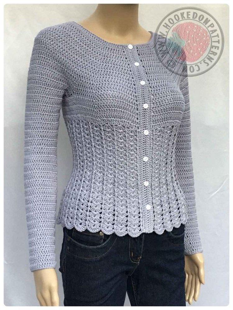Kamila Fitted Cardigan Crochet Pattern By Hooked On Patterns