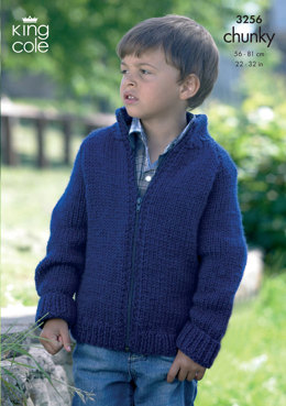 Cardigans in King Cole Big Value Chunky - 3256