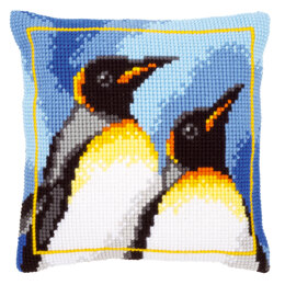 Vervaco King Penguins Latch Hook Cushion Kit