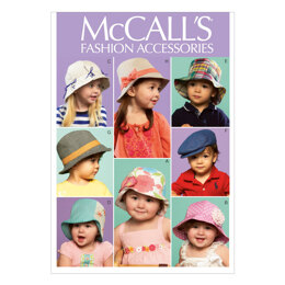 McCall's Infants'/Toddlers' Hats M6762 - Paper Pattern Size One Size Only