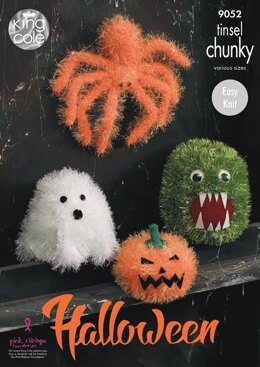 Halloween Monsters in King Cole Tinsel Chunky & Dollymix DK - 9052 - Downloadable PDF