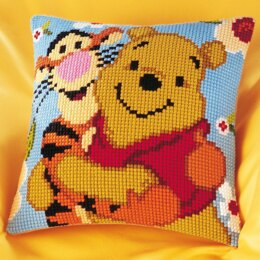 Vervaco Disney - Winnie & Tigger Cross Stitch Cushion Kit - 40cm x 40cm