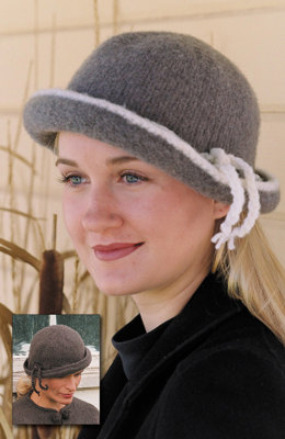 Felted Cloche Hat in Imperial Yarn Columbia - P103 - Downloadable PDF
