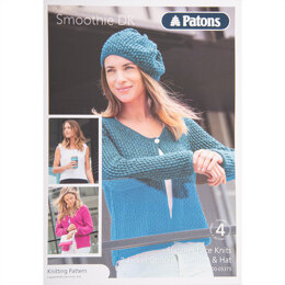 Cardigan, Vest and Hat in Patons Smoothie DK - Leaflet
