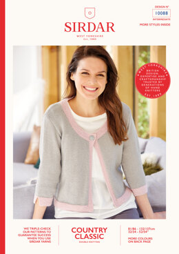 Jacket in Sirdar Country Classic DK - 10088 - Leaflet