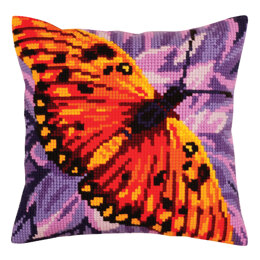 Collection D'Art Butterfly Graphics Cushion Cross Stitch Kit - 40cm x 40cm