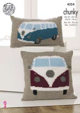 Camper Van Cushions in King Cole Chunky - 4324 - Downloadable PDF