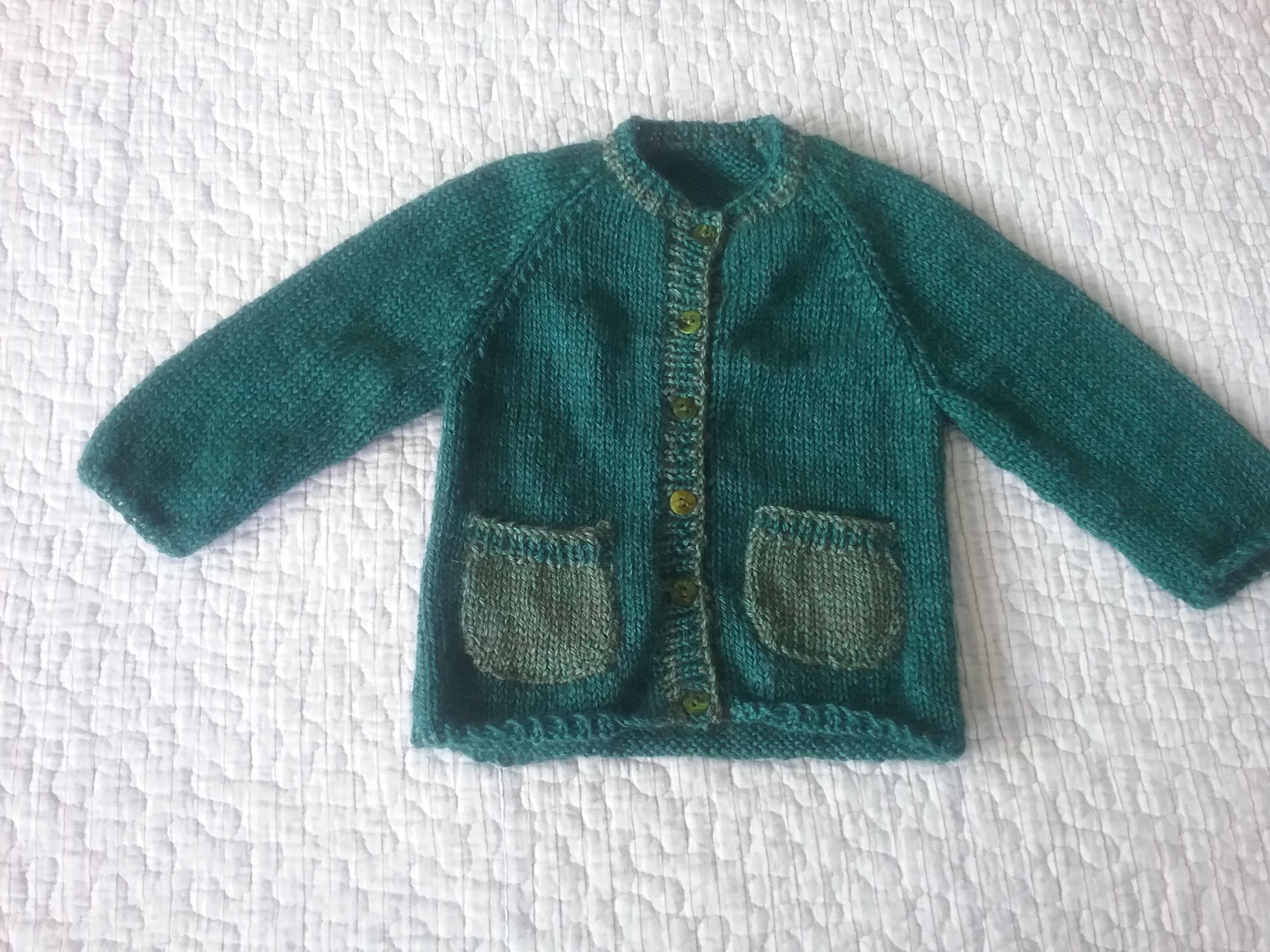 Girls' Clothing (0-24 Months) Girls Hand Knitted Cardigan,0-3 Months.