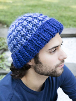 23263161330 Ribbed Hat in Plymouth Yarn Galway Roving - F704 - Downloadable PDF