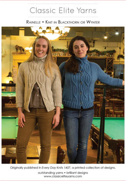 Rainelle Cardigan and Pullover in Classic Elite Yarns Mountaintop Blackthorn and Wynter