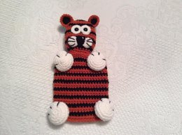 Tiger Snuggle Buddy Lovey or Security toy