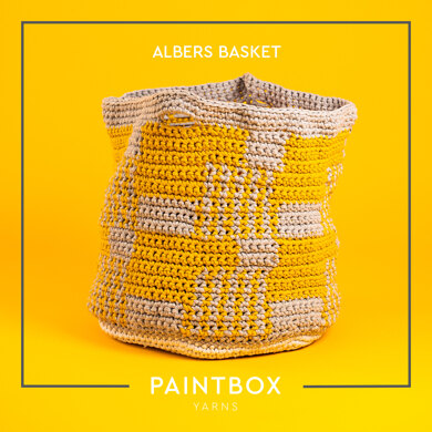 Albers Basket - Free Crochet Pattern For Home in Paintbox Yarns Recycled T-Shirt by Paintbox Yarns