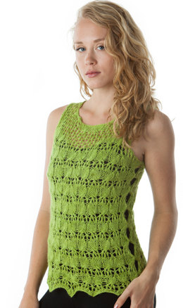 Cable Lace Tank in Artyarns Ensemble Light - I225