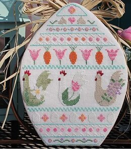 Luhu Stitches Spring Chickens - Downloadable PDF