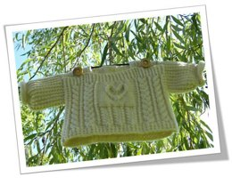 Celtic child: cridhe irish heartbeat pullover