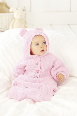 All In One and Sleeping Bag in Sirdar Snuggly Snowflake Chunky - 4465
