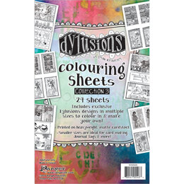 "Ranger Dyan Reaveley's Dylusions Coloring Sheets #3 5""X8"" - 2 Each Of 12 Designs"