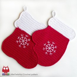 110 Stocking and Mitten decor or potholder